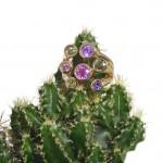 Ring Kaktus Edelsteine Saphire Odenwald Steinfurt Luxus