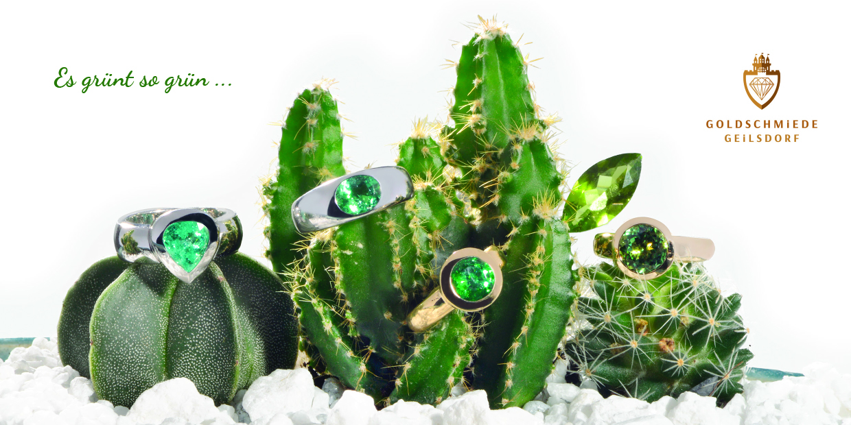 Paraibaturmalin Ring Turmalin Peridot Kaktus Goldschmiede Steinfurt
